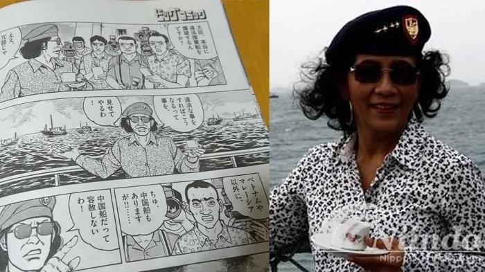 Ibu Susi Pudjiastuti jadi tokoh golgo 13...