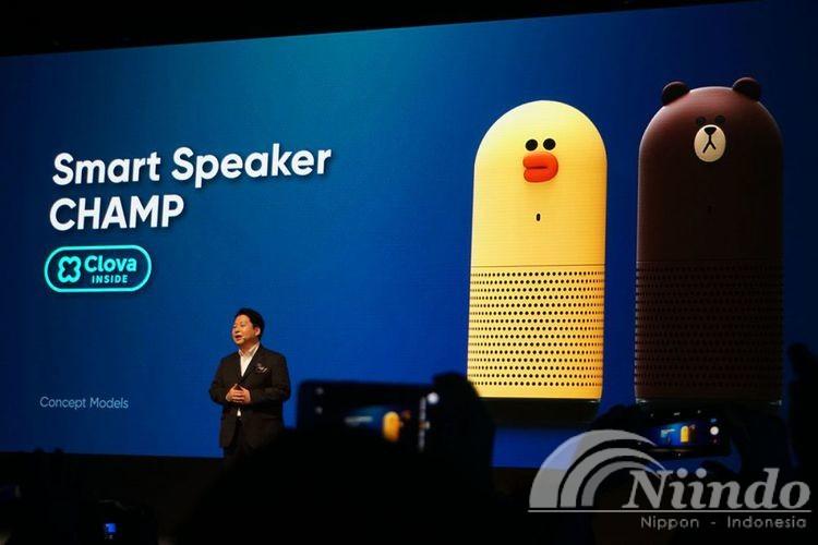 Perusahaan Aplikasi Chatting Jepang Memperkenalkan Speaker Pintar Berkarakter Lucu