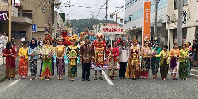 minato matsuri di kota Kesennuma, Jepang